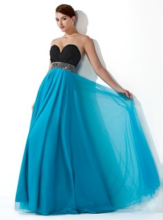 Empire Sweetheart Floor-Length Prom Dresses