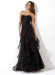 A-Line/Princess Sweetheart Floor-Length Evening Dresses